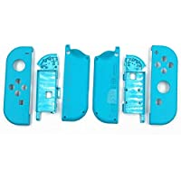 Full Housing Faceplate Shell Case Cover & Battery Middle Plate Frame Replacement Part Nintendo Switch NS NX Joy-Con Controller (Blue)