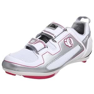 Pearl iZUMi Women's Tri Fly II Cycling Shoe,White/Black,38 M EU / US Women's 6 M