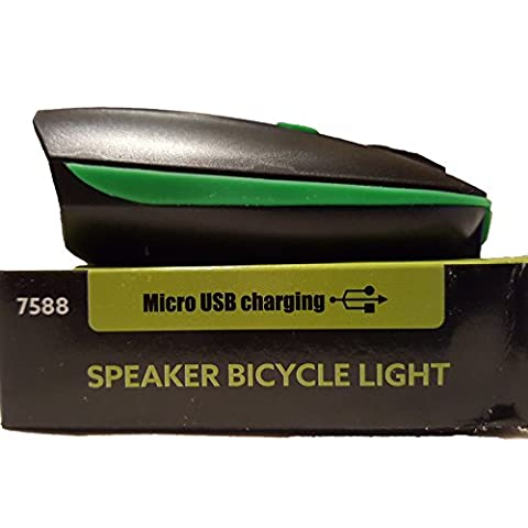 Absolute Best Super Bright LED USB Rechargeable Bike Light & Horn Combo With Mount 4 All Bicycles. 4 Diff. Very Loud Sounding Horn Settings w/ Flashing & Steady Light Capability. Waterproof. (Push Button Bike Horn)