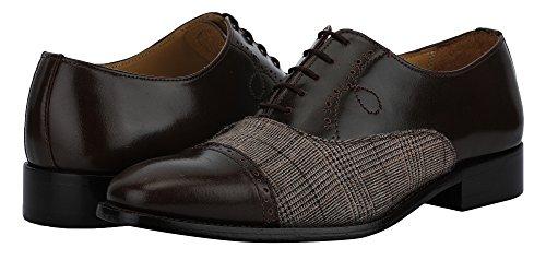 Liberty Hommes En Cuir Véritable Oxford Classique Lace Up Fermeture Chaussures Brogue Chaussures Marron