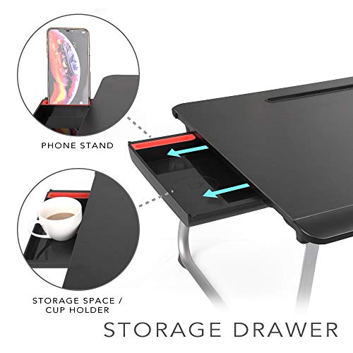 Cooper Table Mate [Folding Laptop Desk for Bed & Sofa] Couch Table, Bed Desk for Laptop, Writing, Study, Eating | Storage, Reading Stand (Black Onyx) by Cooper Cases (Image #3)