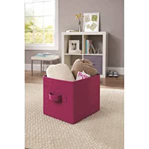 Better Homes And Gardens Collapsible Fabric Storage Cube 100 Polyester 1 Orchid