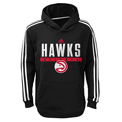 NBA Atlanta Hawks Youth Boys 8-20 Pullover Playbook Hood, Black