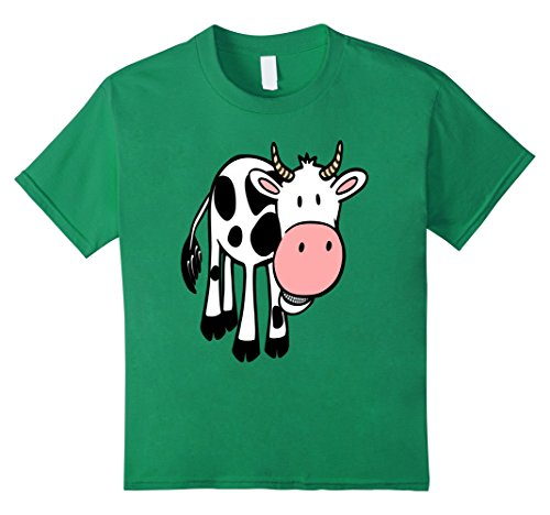 Kids Cow Costume Shirt For Farm Animals Birthday Party Shirt 4 Kelly Green