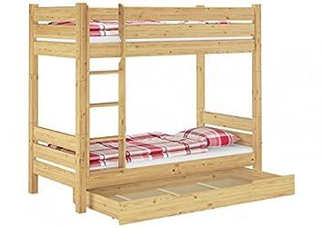 Etagenbett Holz 90x200 : Erst holz® massivholz etagenbett 90x200 stockbett kiefer teilbar 2
