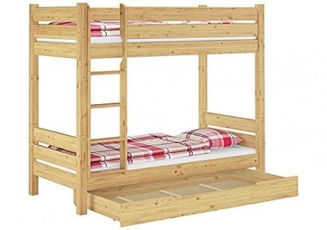 Erst-Holz In legno massello Letto a castello 90 X 200 letto a ...