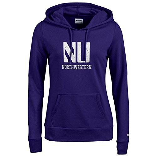 Wildcats Northwestern University Football - Champion NCAA Women's Comfy Fitted Sweatshirt University Fleece Hoodie Northwestern Wildcats Small