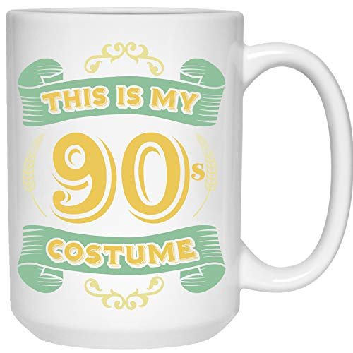 This Is My 90s Costume - Funny Halloween 90 Birthday Gag Gifts Idea Coffee -