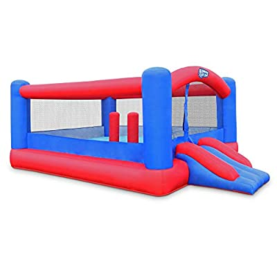 Inflatable Bounce House   Giant 12x10.5 Feet Blow-Up Jump Bouncy Castle for Kids with Air Blower, Carry Bag, Stakes & Repair Kit   Easy Set Up for Hours of Backyard Play & Party Fun   Ages 3-10: Toys & Games