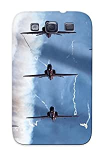 Pretty Xfgtzi-1939-gmyscal Galaxy S3 Case Cover/ Aircraft Airplanes Aerobatics Smoke Jets Military Fighters Series High Quality Case For Thanksgiving Day's Gift