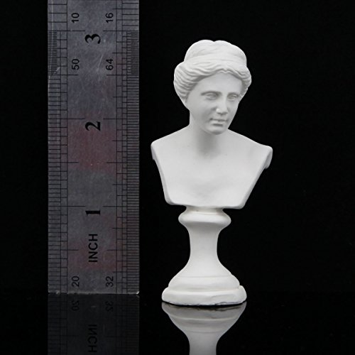 "Plaster Bust Statue Resin Casting Painting White Height 3""/7.6cm"