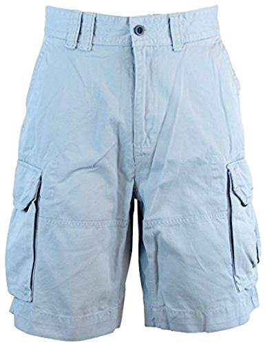 Polo Ralph Lauren Men's Big & Tall Deep Pocket Pleated Cargo Shorts (44B, Blue) ()