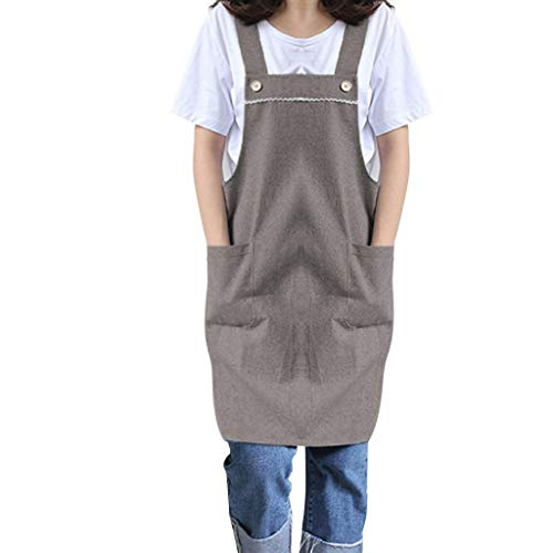 Bib Apron, Work Apron with DressTwin Double Pocket,Japanese Style Pinafore Dress,Kitchen Clothes Gift for Unisex DIY Project, Crafting, Cooking, Baking (Japanese Blue Eyes White Dragon With Armor)