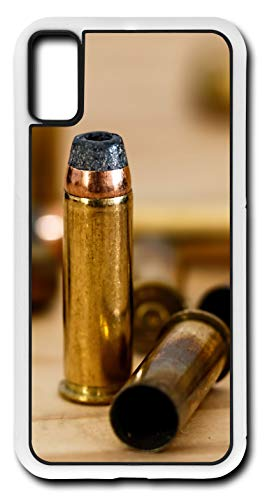 iPhone X Case Bullet Cartidge Ammunition Shell Customizable by TYD Designs in White Plastic ()