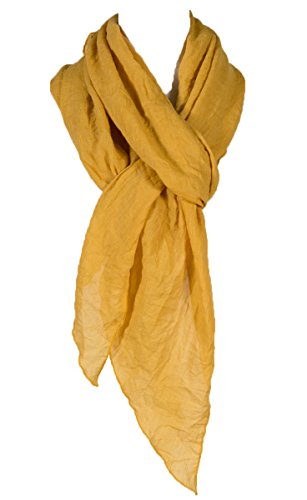 Cotton Solid Color wrinkle Linen Scarf, fashion scarf, multi color, beach scarf (Lightweight Scarf)