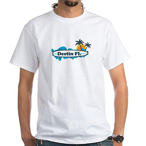CafePress Destin Florida - Surf Design. White T-Shirt 100% Cotton T-Shirt, White