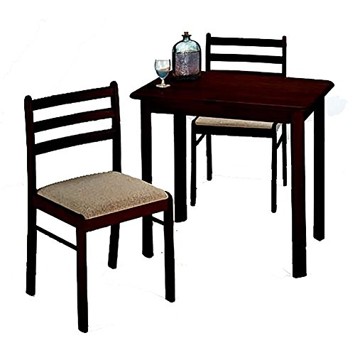 Casual Dining Set In 3 Pieces With Table And 2 Upholstered Chairs Of Wood plus FREE GIFT