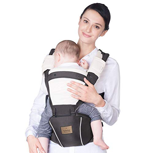 Bebamour New Style Designer Sling and Baby Carrier 2 in 1,Approved by U.S. Safety Standards (Baby Carrier, Dark Grey)