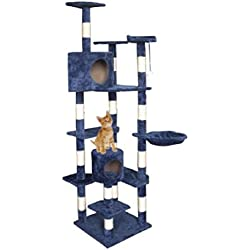 "Brand New 80"" Cat Condo Tree Furniture Scratching Post Pet Cat Kitten House Navy Blue Color"