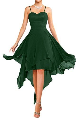 Kurz vestiti senza lungo traeger vestimento estate spalline giovane Dunkel stanotte vestimento vestimento Gruen danza Victory Chiffon alla colore sposa moda a tR0v0q