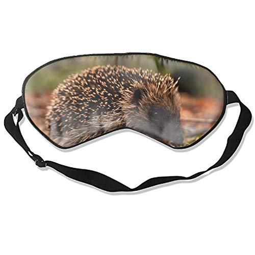(Fashion Hedgehog Leaves Grass Autumn Spines Muzzle Print Sleeping Mask Deep Rest Contoured Eye Mask)