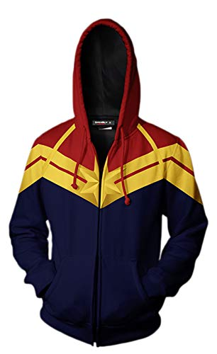Riekinc Superhero Hoodie Adult Sweatshirt Jacket Cosplay Costume -