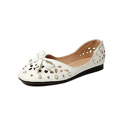 BBSLT-Chaussures De Marée Exposés Chef De Parti Légère Douce Bas Chaussures D'Été Filles Unique Sauvage Pearl L'Eau De Forage Les Graines De Soja Shoe
