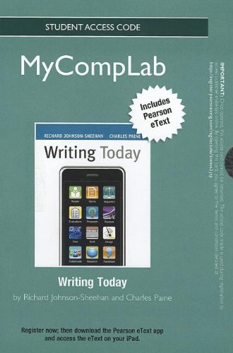 NEW MyCompLab with Pearson eText -- Standalone Access Card -- for Writing Today (MyCompLab (Access Codes))