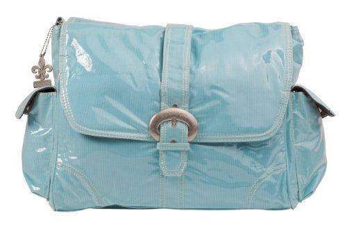 Kalencom Laminated Buckle Changing Bag (Baby Blue Corduroy) by Kalencom