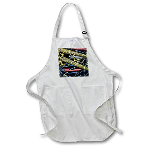 3dRose Alexis Photography - Objects Cold Steel - Cold steel - decorated arm blanche in metal scabbards - Full Length Apron with Pockets 22w x 30l (apr_270857_1) by 3dRose