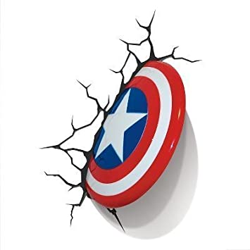 Amazon the avengers 3d wall art nightlight captain america the avengers 3d wall art nightlight captain america aloadofball Image collections