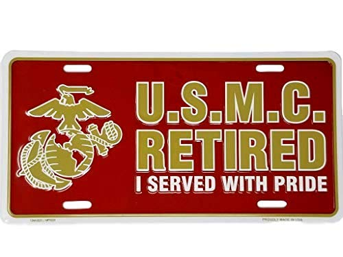 (Ramsons Imports 12x6 Marine Corps Retired License Plate )
