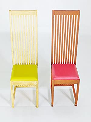 Design Interior Collection Reina 1 12 Designers Chairs Vol 6 No 4 Hill House Chair By Charles Rennie Mackintosh Yellow Red Color Buy Online At Best Price In Uae Amazon Ae