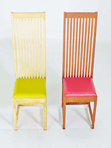 - Design Interior Collection Reina 1/12 Designers Chairs Vol 6 No.4 Hill House Chair by Charles Rennie Mackintosh Yellow & Red Color