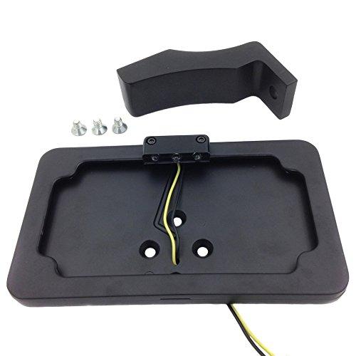 NBX- Soporte de matrícula lateral negro con luz LED para ...