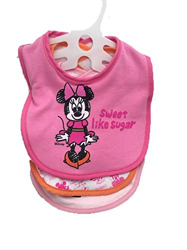 Fd50412 Minnie Mouse 3 pack Baby Bibs