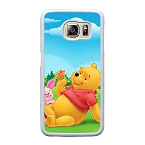 Generic Fashion Hard Back Case Cover Fit for Samsung Galaxy S6 Edge Cell Phone Case white Winnie the pooh EUI-8472250