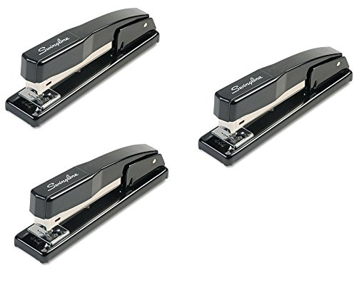 Swingline Desk Stapler, Commercial, 20 Sheet Capacity, Black - 44401 - 3 Pack