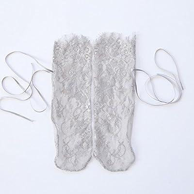 Maivasyy 3 paires de chaussettes Printemps et été Perspective Courroie souple dentelle cils gris, chaussettes Bow Sailor