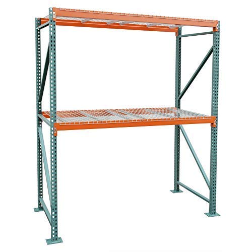 Storage-Pro Pallet Rack Starter Kit with Wire Decking 120 H x 108 W x 42 D