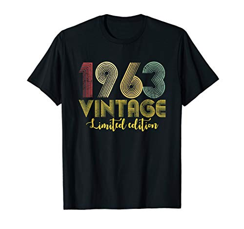 Vintage 1963 T-Shirt Born in 1963 Retro 56th Birthday Gifts