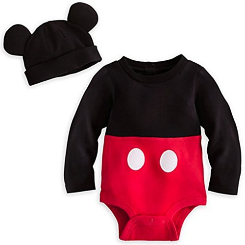 Disney Mickey Mouse Costume 2t (Disney Store Mickey Mouse Costume Onesie Bodysuit Size 18 - 24 Months 2T or 2 Years)