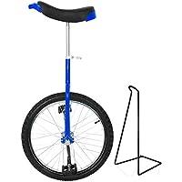 Funsport Monocycle Réglable 18 Pouces Bleu