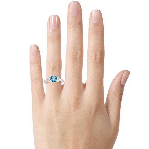 Blue topaz ring white gold