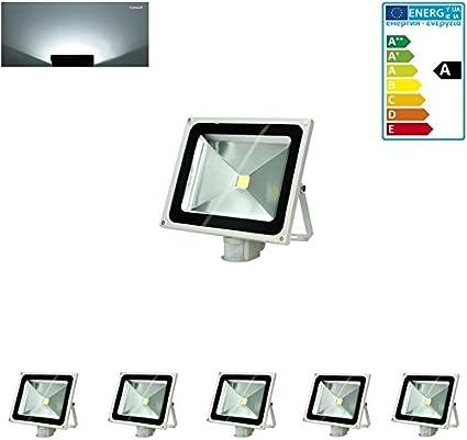 ECD Germany 1 x 30W Faretto Proiettore LED con Sensore di Movimento AC 220-240V 1518 Lumen Bianco Caldo 2800K Luce Faro da Esterno IP65 Impermeabile