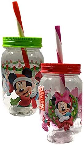 Disney Mickey /& Minnie Mouse Christmas Canning Jars