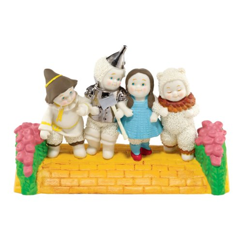 Department 56 Snowbabies Guest Collection Wizard of Oz Yellow Brick Road Figurine, 2.25 inch