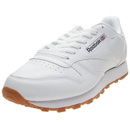 Reebok CL LTHR - Zapatillas de running, Niños Blanco