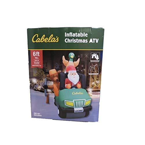 Bass Pro Cabela's Inflatable Christmas ATV Hunting Hunter Yard Decoration 6' Lights Up Indoor/Outdoor Santa Turkey -