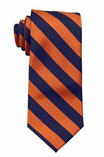 JCS-ADF-1-10 - Men's College Repp Stripe Print Striped Necktie Ties ()